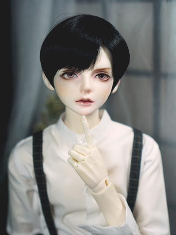 BJD Wig Boy Black Short Hair for SD Size Ball-jointed Doll