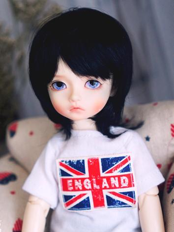 BJD Wig Boy Black Hair for ...