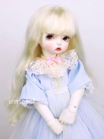 BJD Wig Boy Light Gold Long Curly Hair for SD/MSD Size Ball-jointed Doll
