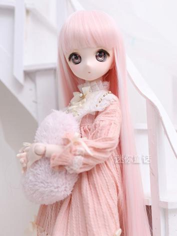 BJD Wig Girl Pink/Brown/Bla...