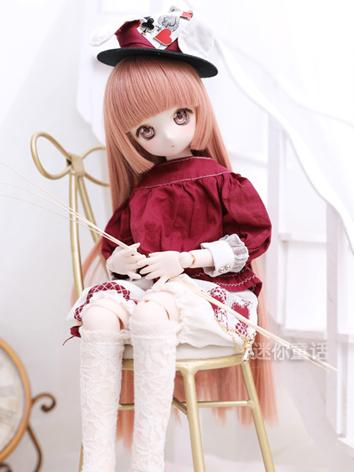 BJD Wig Girl Pink Straight Hair 1/3 1/4 1/6 Wig for SD/MSD/YSD Size Ball-jointed Doll