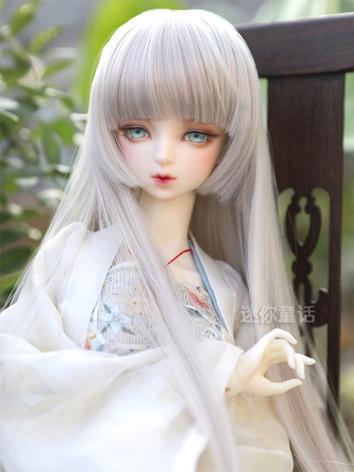 BJD Wig Girl Purple/Light g...