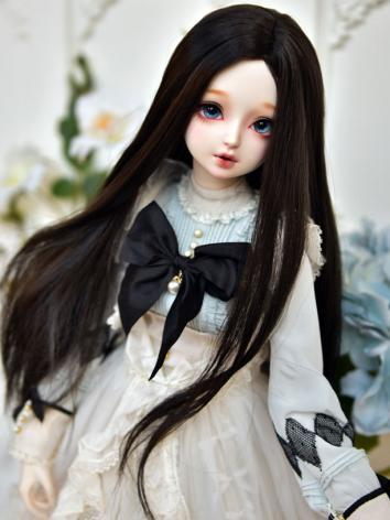 BJD Wig Girl Black/Brown/Li...