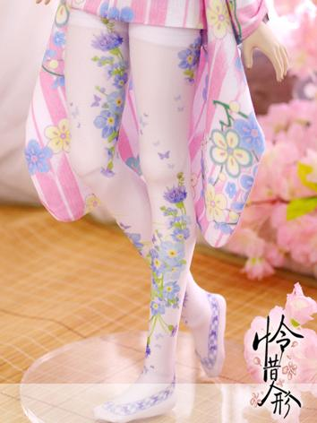 Bjd Socks Girl Lady Printed High Stockings for SD Ball-jointed Doll