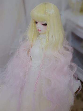 BJD Wig Girl Yellow&Pink Lo...