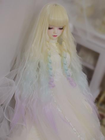 BJD Wig Girl Yellow&Mint&Pu...