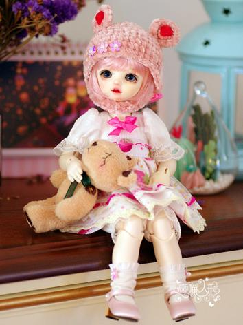 BJD Clothes Girl Pink Dress for YOSD Ball-jointed Doll
