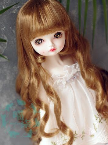 BJD Wig Girl Light Brown Cu...