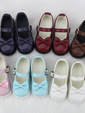 BJD Shoes Girl Black/White/Brown/Pink/Blue/Wine Flat Shoes C14 for SD/MSD/DSD/YOSD Size Ball-jointed Doll