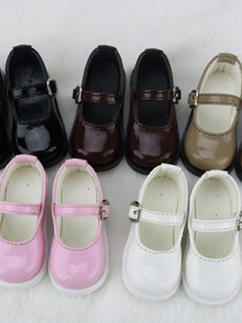 BJD Shoes Girl Black/White/Brown/Pink/Blue/Wine Flat Shoes C15 for SD/MSD/DSD/YOSD Size Ball-jointed Doll
