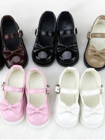 BJD Shoes Girl Black/White/Pink/Chocolate/Khaki Flat Shoes C16 for SD/MSD/DSD/YOSD Size Ball-jointed Doll