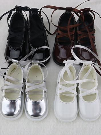 BJD Shoes Girl Black/White/Chocolate/Silver Shoes C25 for MSD Size Ball-jointed Doll