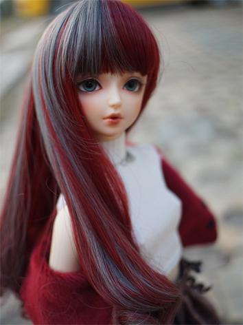 BJD Wig Girl Red/Blue/Pink/...