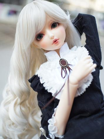 BJD Wig Girl Beige Curly Ha...