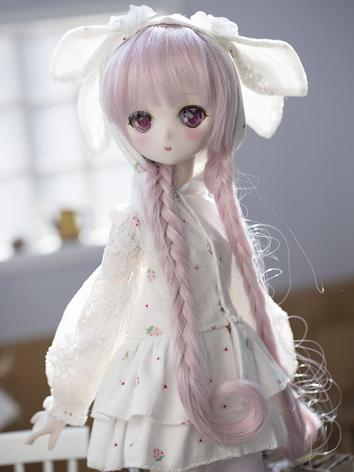 BJD Clothes White Dress for...