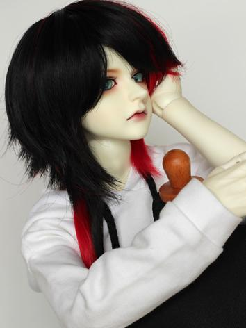 BJD Wig Boy Black&Red/Black...