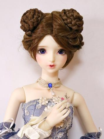 BJD Wig Girl Brown Hair for...