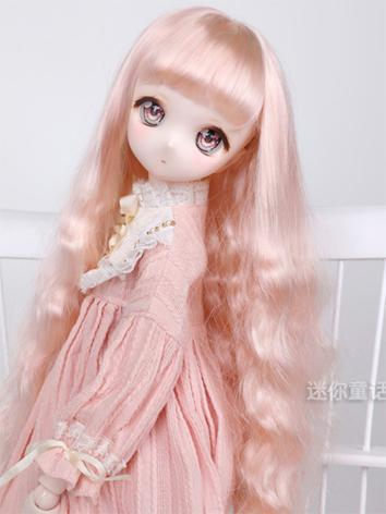 BJD Wig Girl Pink/Gold/Brow...