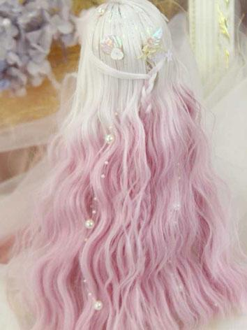BJD Wig Girl Gradient Style...