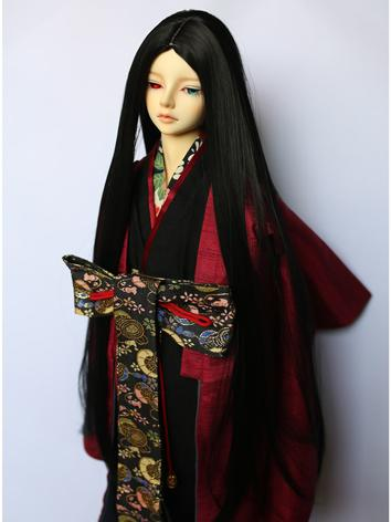 BJD Wig Boy Black Long Hair...