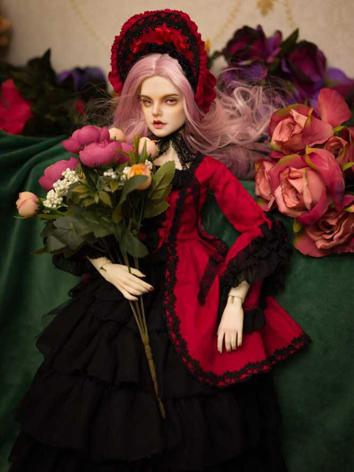 BJD Clothes Girl Red&Black Dress for SD16/SD13/SD10/MSD Ball-jointed Doll