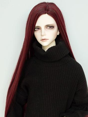 BJD Wig Boy/Girl Wine Hair ...