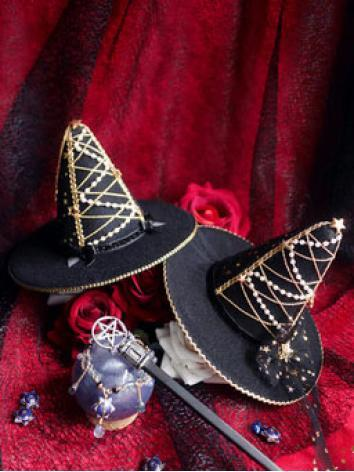 BJD Black Stargaze Hat for ...