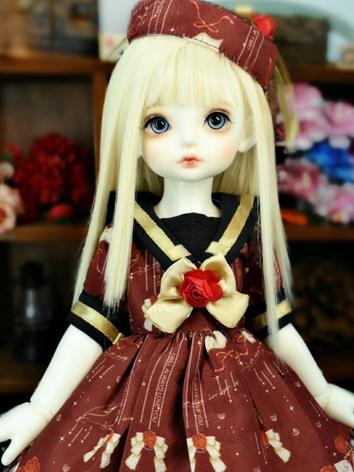 BJD Clothes Girl Wine Dress...