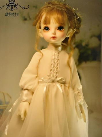 BJD Clothes Girl White Dress for SD/YOSD/DSD/MSD Ball-jointed Doll