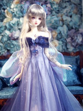 1/3 Clothes BJD Girl Purple Dress for SD13/SDGR/SD10 Ball-jointed Doll