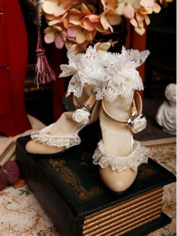 Bjd Girl Khaki High-heel Sh...