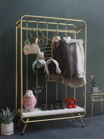 BJD Furniture Wardrobe Clothes-Tree Hallstand for SD Girl Size Ball-jointed doll