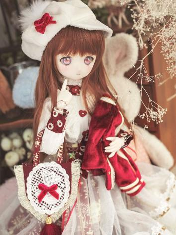 BJD 1/4 Clothes Girl Red Suit for MSD Ball-jointed Doll