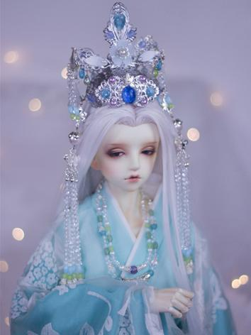 BJD Ancient Hairpiece Silver Hair Accessaries Set for SD Ball-jointed doll