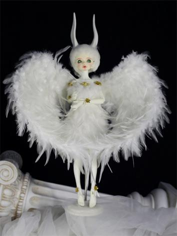 BJD Boy/Girl White/Black Wi...