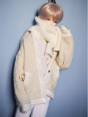 1/3 1/4 70cm Clothes Light Yellow Cardigan Coat A248 for MSD/SD/70cm Size Ball-jointed Doll