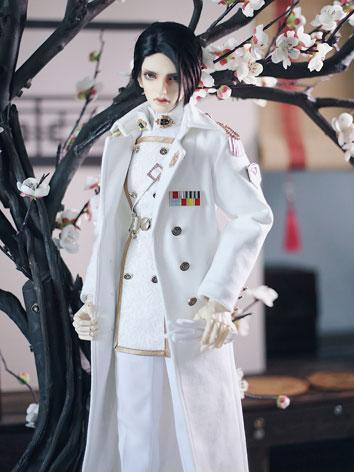 [Limited Edition]1/3 70cm Clothes White Military Uniform Boy Suit for SD/70CM/75cm/80CM Ball-jointed Doll