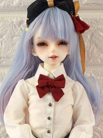 BJD Wig Girl Blue&Pink Hair...