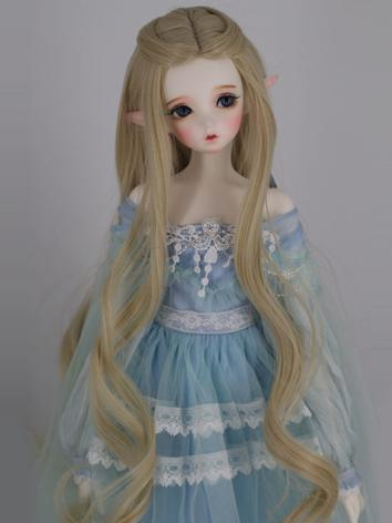 BJD Wig Girl Light Gold Cur...