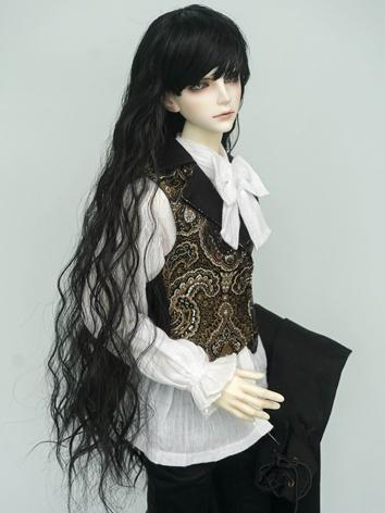 BJD Wig Boy Black Long Curl...