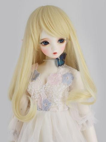 BJD Wig Girl Yellow Curly H...
