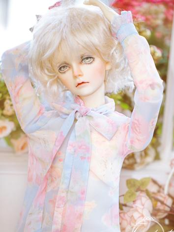 BJD Clothes Girl/Boy Blue Printed Shirt for SD/70cm Ball-jointed Doll