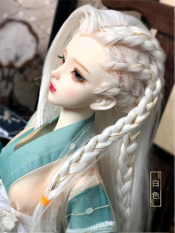 BJD Wig Boy White/Black Sty...