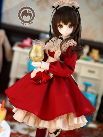 1/3 DD Clothes Girl Red/Bla...