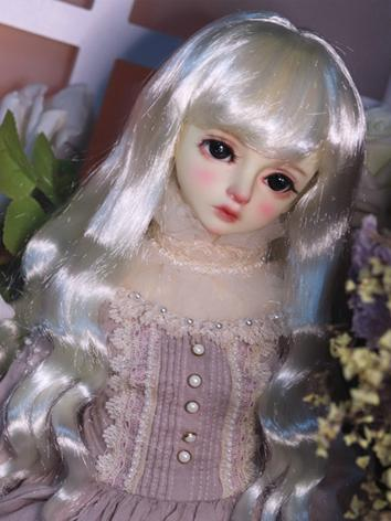 BJD Wig Girl Gold/Brown Hair Wig for SD/MSD/YOSD Size Ball-jointed Doll