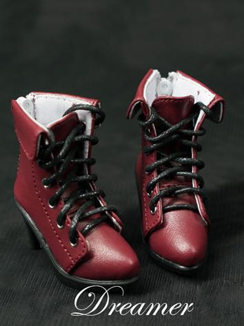 BJD 1/3 1/4 Shoes Female Retro Wine Ankle Boots Shoes for SD/MSD Ball-jointed Doll