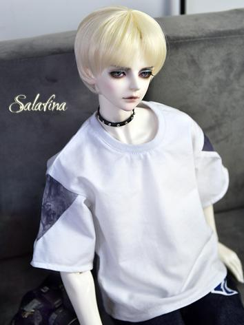 BJD Clothes Boy White T-shirt for 70CM/68CM/SD Ball-jointed Doll