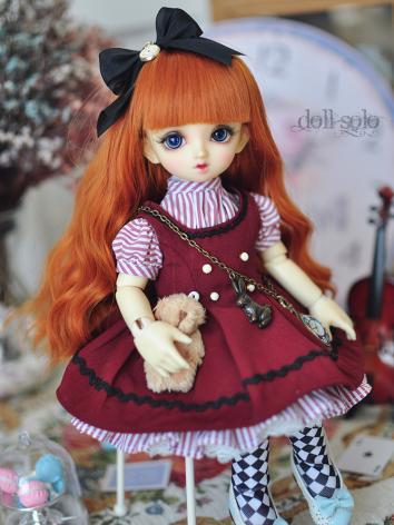 BJD Clothes Girl Blue/Red D...