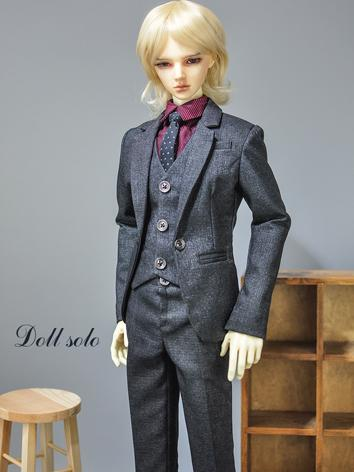 BJD Clothes Boy Outfit Gray Suit for 75cm/72cm70cm/SD/MSD Size Ball-jointed Doll