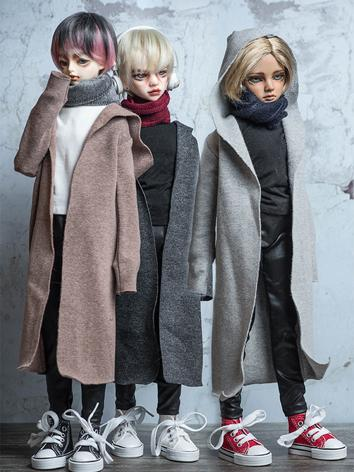 BJD Clothes Girl 1/4 size Black/Gray/Khaki Coat Suit for MSD Ball-jointed Doll